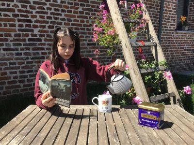 "Anzin-Saint-Aubin  Collège Louez Dieu   ""Tea time, in my sunny garden !"""