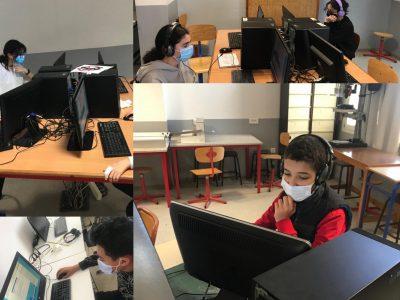 LYCEE DESCARTES (RABAT, Maroc). Les élèves de 4ème sont concentrés!!!