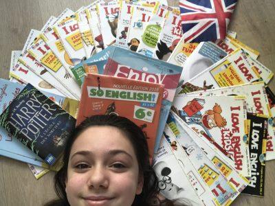 Ville : Paris 75014  Collège : La Bruyère Sainte Isabelle Commentaire : I love English  !!! Je suis abonnée depuis très longtemps à des magazines d'anglais, j'adore Harry Potter j'ai lu tout les livres et vus tout les films et mon manuel d'anglais et mon meilleur ami !