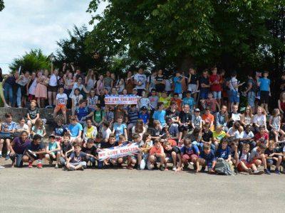 Séminaire de Jeunes, Walbourg. All the participants and some supports