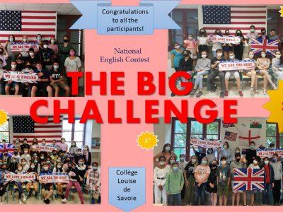Remise des récompenses du Big Challenge du Collège Louise de Savoie à Chambéry. See you next year!