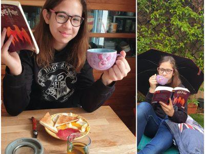 J'habite à Marseille et je suis à Cours Bastide. Petit déjeuner en lisant Harry Potter.