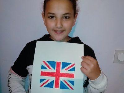Bourg-les-valence collège Gerard Gaud  je trouvais que ce qui me faisait pensais le plus à l'anglais c'est le drapeau de l'Angleterre