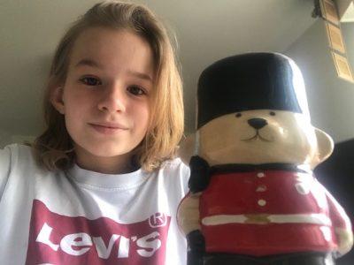 NANTES/Collège Françoise d'Amboise.  J'ai été soutenue par l'ours Paddington pour le Big Challenge !  Marie BIDAUD (6ème).
