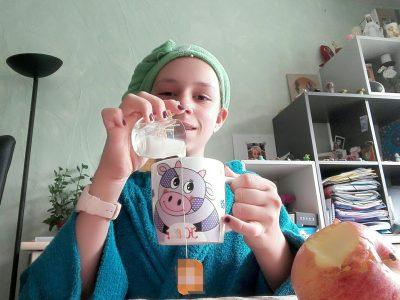 LYON / COLLEGE ST LOUÏS ST BRUNO  Les Anglais boivent un thé avec un nuage de lait et cette pomme représente New York que l'on surnomme Big Apple