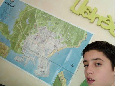 Aurec Sur Loire Collège des Gorges de la Loire  Commentaire : Carte de Los Angeles reconstitué dans un jeu vidéo (GTA 5)