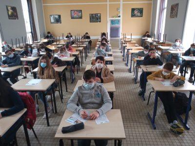 Loudun (86) Collège Chavagnes-St Joseph Bonne chance à toutes et à tous!