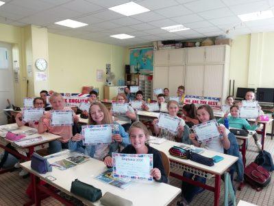 Saint Martin Boulogne. Ecole Saint Charles, classe CM2  'On est peut-être en primaire mais on est fière'