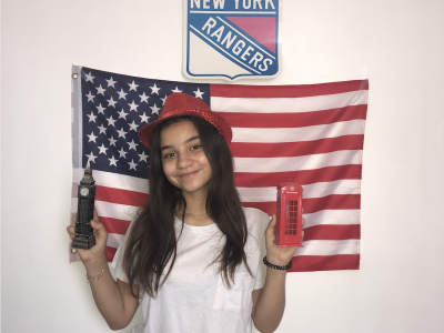 Hello,  My name is Ilona, I live in Levallois in France and study at Louis Bleriot.  As you can see in my picture, I love New York and London !   I hope I will win !!  Thanks and have fun !!