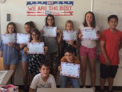 Félicitations aux élèves du Collège Signey Bêcher ( Juan les Pins)