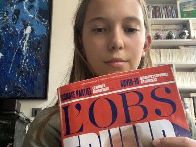 LYON CHARTREUX SAINT-CHARLES  C'est un magazine qui parle de Trump cette semaine ci.  J'ai trouvé ça bien car c'est dans la thématique de l'anglais