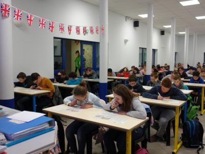Collège Saint François de Sales à 45500 GIEN. 106 students hard at work for The Big Challenge with Miss WINDY.