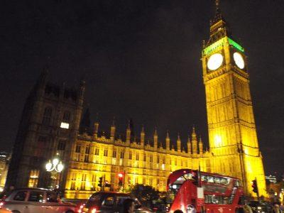 c'est Big Ben le soir quand j'ai été a Londre