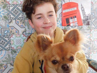 """Maxence de la ville de LAON. Collège Les Frères LENAIN. """"My dog speaks english like me"""""""