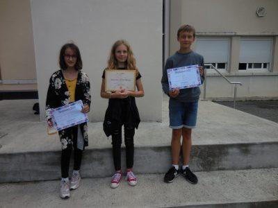 Congrats Mia! (Collège ASTARAC-BIGORRE 65220 TRIE-SUR-BAÏSE)