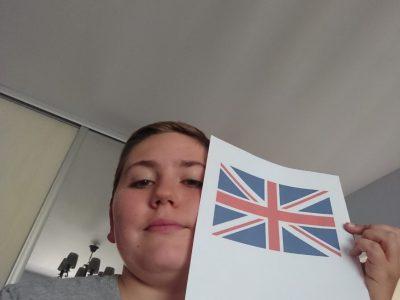 Le drapeau  d'anglais qui nous fait rappeler le voyage