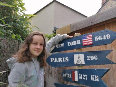 Angers - Institution MONGAZON Je suis sur la route pour aller à New-York!! Plus que 5649 KM!!