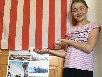 Collège de BRUMATH à BRUMATH   «Un poster du Big Challenge, un drapeau et un tee-shirt aux couleurs américaines et voilà pleins de souvenirs de mon road-trip aux États-Unis qui me reviennent... Vivement le prochain voyage !!»