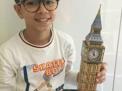 Strasbourg, Moorooven Leny, école Sainte Anne 6eB J'ai adoré faire ce puzzle en 3D qui represente le Big Ben pendant le confinement .