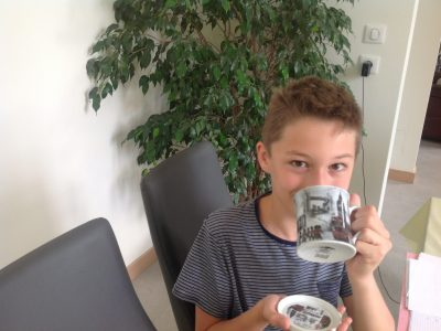 Chatelguyon collège Champclaux. A good cup of tea is very delicious !