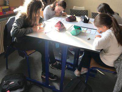 Les élèves de 6ème et 5ème du collège Guynemer de Nancy.