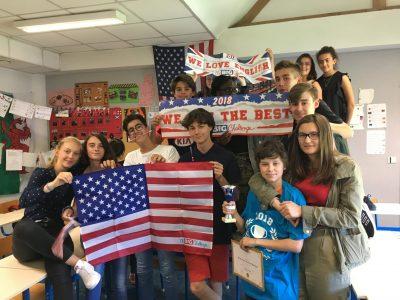 Collège Léonard de Vinci, les élèves de 5èmes sont encore très motivés pour l'année prochaine ! BRAVO !