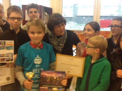 Félicitations aux gagnants!  CollègeSt Laurent,88250 La Bresse
