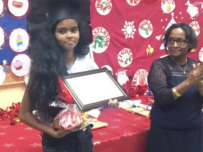 Anjalie is happy to be the first one this year in her level .