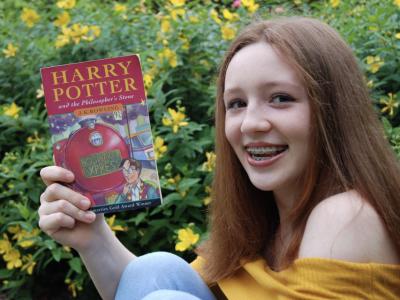 Toulouse, collège Bellevue. Livre Harry Potter en Anglais.