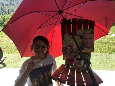 Tourrette-Levens collège René-Cassin   J'ai pris quelques clichés Anglais : tel que le parapluie ou le thé.
