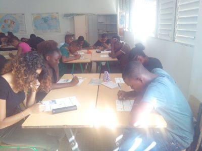 Les élèves du collège Joseph Pitat (Guadeloupe)