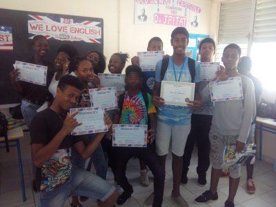Félicitations aux élèves du collège Joseph Pitat (Guadeloupe)