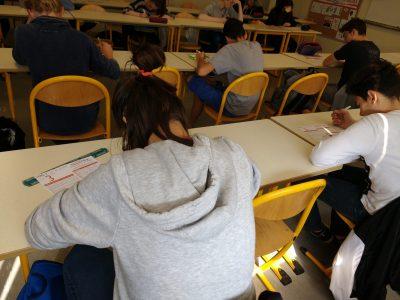 Talange, Collège Le Breuil. Hardworking students.