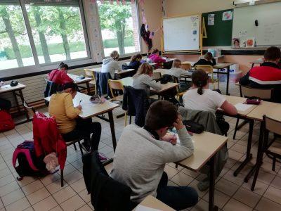Les élèves du collège Jean Monnet de Luisant