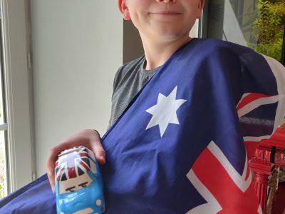 Le mans (72) Collège Des Muriers. J'ai choisi le drapeau de l'Australie car c'est ma sœur qui me l'a offert en rentrant de son voyage.