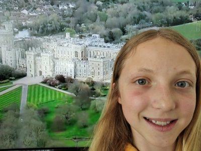 Célia Morel du collège Rostand à Luxeuil les bains.  Mon voyage en Angleterre pendant le confinement, c'est à dire....à la télévision !!!! :)