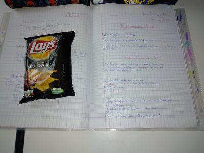 L'anglais sa s'apprend comme manger des chips .