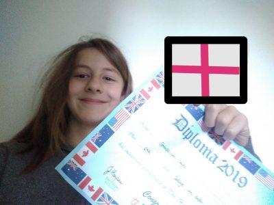 Emerainville, collège Van Gogh Neyla Garabedian 5éme1  J'ai mon diplôme de BIG CHALLENGE de l'année dernière et le drapeau anglais
