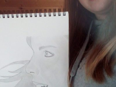 Collège La salle Pringy Here is a picture of me with Emma Watson (an English actress). Yes I know it's just a draw. But I drew it by myself.  Have a good day !   Anaëlle. Flechelle