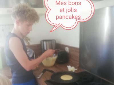 L'ile d'elle : Golf des Pictons  Réalisation de pancakes, délicieux!