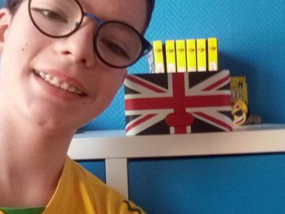 Thomas Farinella collège st Paul Lille Le drapeau du Royaume-Uni , la meilleure preuve de l'anglais.