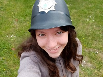Salbris collège Saint-Georges. I feel like being a real police woman!