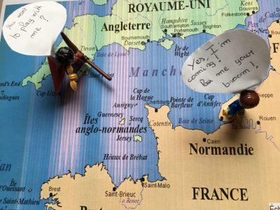 """Tours / Collège Léonard de Vinci.   """"Crossing borders is magic."""""""