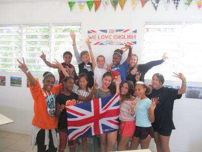 Le Big Challenge au LYCEE FRANCAIS LE CLEZIO à PORT VILA au VANUATU (Pacifique Sud), un groupe d'élèves de 5e.
