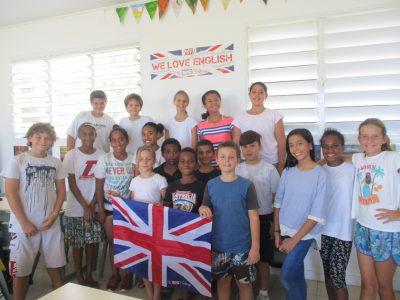 Le Big Challenge au LYCEE FRANCAIS LE CLEZIO à PORT VILA au VANUATU (Pacifique Sud), un groupe d'élèves de 6e.