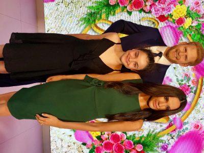 PIBRAC   LA SALLE   Moi à Londres à Madame Tussaud avec Harry et Meghan !!!!!!!