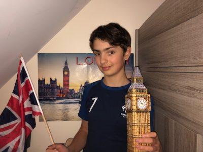 Bonjour, je m'appelle Alexandre Revel et je suis en classe de 5e Azur à l'Institution Sainte Jeanne d'Arc de Melun dans la Seine et Marne (77). J'adore Big Ben et Londres et l'Angleterre et les États-Unis d'Amérique me passionnent grandement ! J'espère gagner :)  Merci ^^