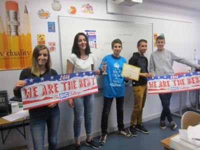Grand gagnant du Collège du Méridien à Mauriac, Cantal : Clément ! Bravo ! ... et bonne route vers le lycée !