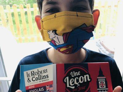 ALBERT - Collège Charles de Foucaud  Concours passé en plein confinement mais avec le masque de Superman ! Restons forts dans ces moments compliqués ;)
