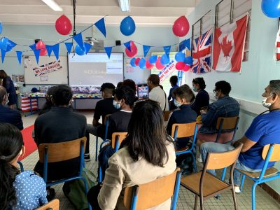 SAINT- ANDRE / COLLEGE MILLE ROCHES : parents and pupils can't wait for the ceremony to start